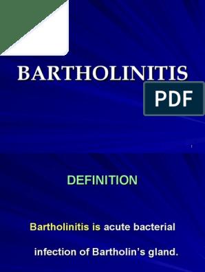 Bartholinitis [Antibiotics in