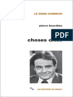 Choses dites by Bourdieu Pierre