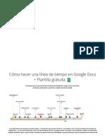 Cómo hacer una línea de tiempo en Google Docs + Plantilla gratuita