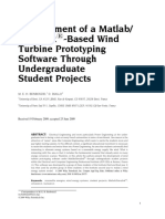 Development of a Matlab Simulink Based Wind Turbine Prototyping Software Through Undergraduate Student Projects
