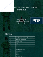 Application of computers in defence
