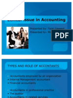 Ethical issue in Accounting