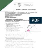 phys-fiche 2-ch12-Partie II-lois de Newton- 1re-noyau- passage en TleSpé+corrigé