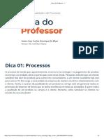Gestão da qualidade e processos - dica 1