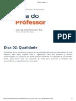 Gestão da qualidade e processos - dica 2