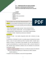 Preparación de soluciones y factorización - GUIÓN