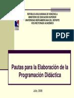 Pautas para la Elaboración de la Programación Didáctica