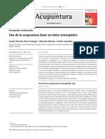 Uso de la acupuntura láser en dolor neuropático