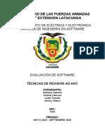 Tecnicas de Revision Ad-Hoc
