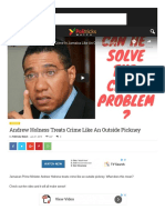 Minister Andrew Holness treats crime