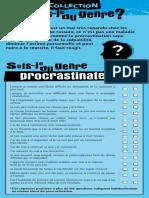 Suis Je procrastinateur