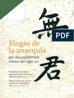 Elogio de la anarquía por dos excéntricos chinos del s. III - Jean Levi