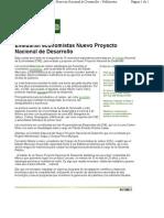 18-01-11 Evaluaran economistas nuevo proyecto nacional de desarrollo