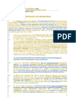 Affidavit of Desistance- JAMAICA