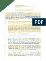 Affidavit of Desistance-
