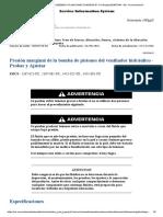 PRESION MARGINAL DE LA BOMBA DEL VENTILADOR