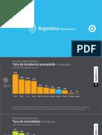 Los gráficos que mostró Alberto Fernández