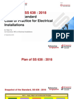 Overview of SS 638 2018 Singapore Standard Code of Practice for Electrical Installation