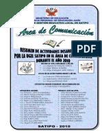Resumen de Actividades de Comunicación 2010 UGEL Satipo Rode Huillca