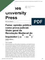 Evidência legal - Fama_ opinião pública como evidência judicial. Panorama da revolução medieval do Inquisidor (12 a 14) - Presses Universitaires de Rennes