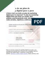 Estructura de un plan de marketing digital paso a paso