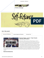 Administration - Self Reliance