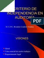 CRITERIO DE INDEPENDENCIA.ppt