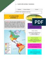 OA 8 DESCRIBIR DISTINTOS CLIMAS DELCONTINENTE AMERICANO
