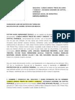AMPARO PARA 13 DE JUNIO VS CAMIONETAS ANTORCHA