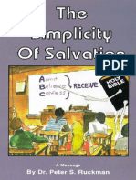 The Simplicity of Salvation - Dr. Peter S. Ruckman 11 Pgs