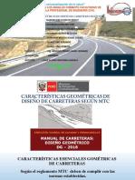 CARACTERISTICAS GEOMETRICAS DE CARRETERAS MTC- EXPO ALEJO