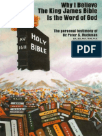 Why I Believe the King James Bible is the Word of God - Dr. Peter S. Ruckman 9 pgs