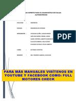 DIAGNOSTICO D FALLAS AUTOMOTRICES- FULL MOTORES CHECK