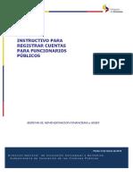 INSTRUCTIVO PARA CREACION DE CUENTAS DE FUNCIONARIOS