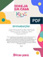 Sugestões de Devocionais e Atividades Kids