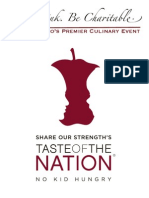 Event Program for Share Our Strength's Taste of the Nation SF 2010, benefit to end childhood hunger