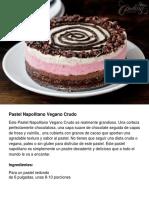 Pastel Napolitano Vegano Crudo