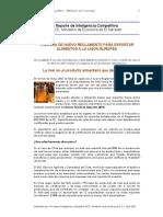 Reglamento_UE_Exportacion_Alimentos_Miel
