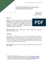 A CONTRIBUIÇÃO DA MUSICOTERAPIA PARA A MOTIVAÇÃO DO TRABALHADOR NAS ORGANIZAÇÕES Marli Gimenez Resumo e Abstract 2010