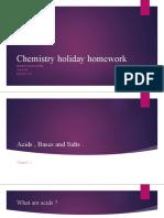 Chemistry holiday homework
