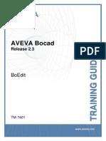 TM-7401 BoEdit Training Guide 2.3 v4