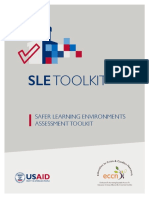 SAFER LEARNING ENVIRONMENTS ASSESSMENT TOOLKIT