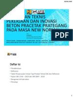 Materi Ir. Gambiro, m.t_bimbingan_teknis_pekerjaan_dan_inovasi_beton_pracetak_prategang (Khusus Infrastruktur) (Sni 28472019 Dan Sni 1726 2019) (1)