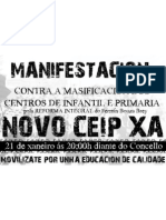cartaz manifestación