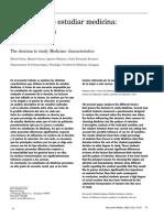 Decisión de estudiar medicina, características (2006)