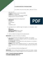 TALLER CLASIFICACIÓN DE LAS OBLIGACIONES RESUELTO 2