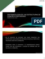SINTOMATOLOGIA DE LAS ESTRUCTURAS DE CONCRETO REFORZADO