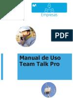 Manual Usuario Móvil Team Talk Pro
