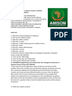 AMISOM Troops Advance Mission's Mandate Despite COVID-19 Disruptions