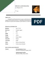 Alamag, B.O. – Jose Rizal Curriculum Vitae